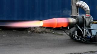getlinkyoutube.com-Jet engine afterburner test with DIY Gasturbine