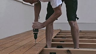 getlinkyoutube.com-Professionelle Montage einer Holzterrasse - Professional installation of a decking
