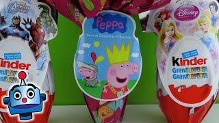 getlinkyoutube.com-Huevos Sorpresa Gigantes de Peppa Pig, Princesas Disney y Los Vengadores