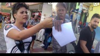 getlinkyoutube.com-Presentadora de TV le da tremenda galleta a un Amet