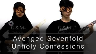 getlinkyoutube.com-Avenged Sevenfold - Unholy Confession [Blindfold Guitar Cover]