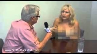 getlinkyoutube.com-Lori Welbourne topless  Canadian radio host takes off her top while interviewing mayor and continues