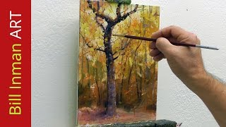 getlinkyoutube.com-Learn to Paint Trees - Fall Colors and Leaves by Bill Inman