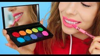 5 Ways To Turn Crayons Into Makeup!
