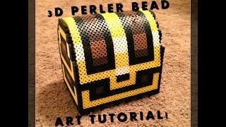 getlinkyoutube.com-3D Perler Bead Zelda Treasure Chest!