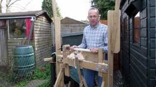 getlinkyoutube.com-Using a Pole Lathe - How to get Best Results, Chisels to Use etc.