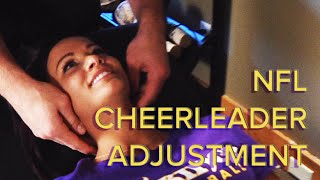 getlinkyoutube.com-Chiropractic Neck and Spinal Adjustment Of An NFL Cheerleader