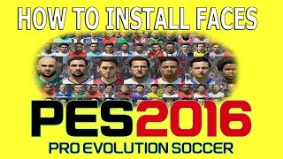 getlinkyoutube.com-How to install faces in PES 2016