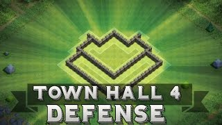getlinkyoutube.com-Clash Of Clans | Town Hall 4 Defense + Defensive Replays ( Th4 Base )