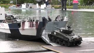 getlinkyoutube.com-RC Boat - Landing Craft and Tanks at ASK Show Case 2014