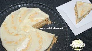 getlinkyoutube.com-Gâteau aux biscuits --- كيك بالبسكويت رائع المذاق