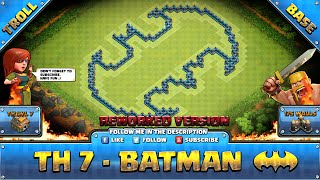 getlinkyoutube.com-★ Clash of Clans Troll Base ★ TH7 - Batman Rework Farming
