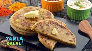 Aloo Gobi ke Parathe, Aloo Cauliflower Paratha Recipe by Tarla Dalal