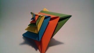 getlinkyoutube.com-Como hacer una espiral de papel (Origami modular 3D)