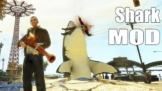 getlinkyoutube.com-Grand Theft Auto IV Gameplay - Shark Gun Shark-o-Matic GTA IV Mods