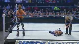 getlinkyoutube.com-Best sweet chin music ever!!! Last part of Shawn Michaels vs Rey Mysterio 1/29/10