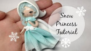 getlinkyoutube.com-TUTORIAL: Basic Polymer Clay Snow Princess Chibi