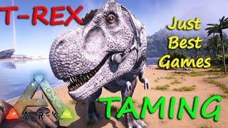 getlinkyoutube.com-ARK Survival Evolved, Как приручить динозавра T-REX в АРК
