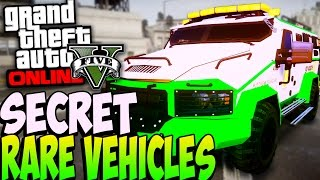 GTA 5 Online - RARE SECRET CARS ONLINE 1.26/1.24 - Secret Rare Vehicles (GTA 5 Car Showcase)