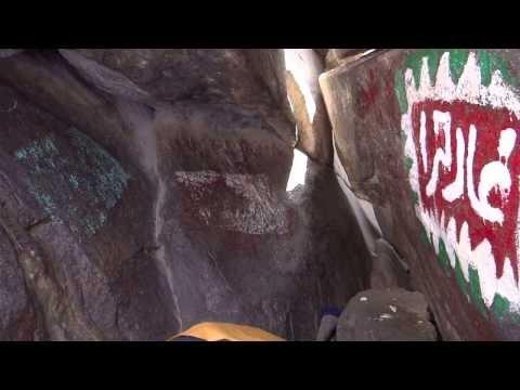 Inside Ghar-e-Hira jabl-e-noor on the mountain of Makkah 8 April 2013 in Saudi Arabia