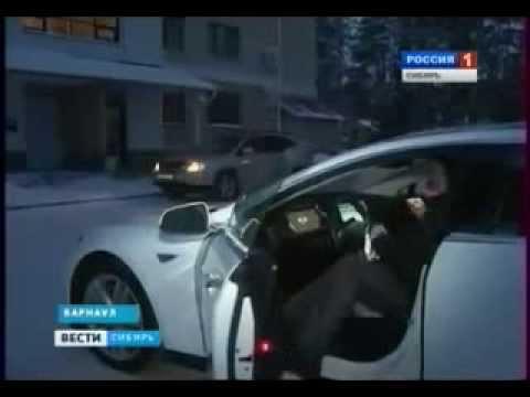 Econix.Автолюбители испытали электромобиль Тесла сибирскими морозами