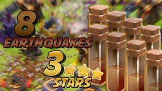 getlinkyoutube.com-Clash Of Clans | 8 EARTHQUAKE + QUEEN WALK = 3 STARS AT TH11