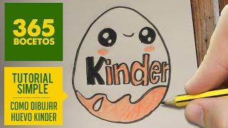 getlinkyoutube.com-COMO DIBUJAR HUEVO KINDER KAWAII PASO A PASO - Dibujos kawaii faciles - How to draw a Kinder