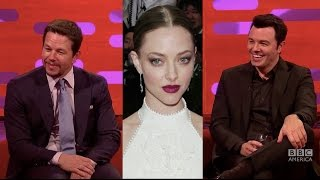 "getlinkyoutube.com-Mark Wahlberg & Seth MacFarlane Call Amanda Seyfried ""Gollum Eyes"" - The Graham Norton Show"