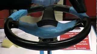 Leather Steering Wheel Restoration & Re Colouring Repair