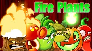 getlinkyoutube.com-Plants vs Zombies 2: All Fire Plants Power-Up! vs Zombies in the Dark Ages?