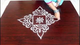 getlinkyoutube.com-beginners kolam designs with 3x3 dots- muggulu designs for beginners- easy rangoli designs with dots