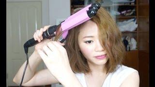 getlinkyoutube.com-[Stella。Hair] 三管電棒打造韓系小泡麵捲髮