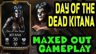 Day of the Dead Kitana MAXED OUT in MKX Mobile. Stats, moves and specials gameplay.
