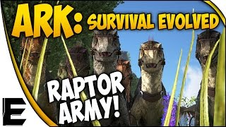 getlinkyoutube.com-ARK Survival Evolved Gameplay ➤ RAPTOR ARMY! - NEW MINI SERIES #2