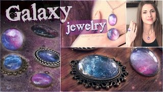getlinkyoutube.com-DIY Galaxy Necklace & Ring Pendants // Nail Polish Jewelry How To