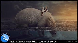 getlinkyoutube.com-Bear Under Water Surreal Manipulation Photoshop Tutorial