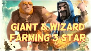 3 star attack with giant & wizard | TH10 dark elixir farming | Clash of clans
