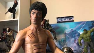 getlinkyoutube.com-Blitzway Bruce lee 1/3 statue unboxing/review
