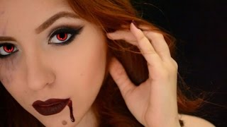 getlinkyoutube.com-Vampire Make Up Tutorial - Halloween