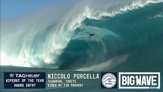 getlinkyoutube.com-Niccolo Porcella  at Teahupoo 2 - 2016 TAG Heuer Wipeout Entry - WSL Big Wave Awards
