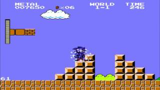 Extra Characters in Super Mario Bros (Sonic Boll)