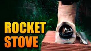 getlinkyoutube.com-Como fazer um fogão com barro, açucar e palha - Rocket Stove