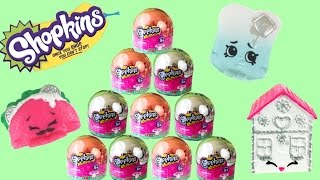 New 10 SHOPKINS CHRISTMAS ORNAMENTS  Exclusive Metallic Baubles Season 3