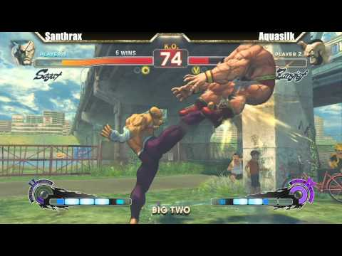 SSF4 AE 2012 Grand Finals EMP Santhrax vs Aquasilk - Big Two #8 Tournament