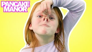 getlinkyoutube.com-HEAD SHOULDERS KNEES & TOES ♫| Nursery Rhyme | Kids Songs | Pancake Manor