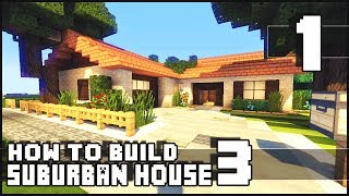 getlinkyoutube.com-Minecraft - How to Build : Small Suburban House 3 - Part 1