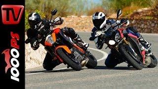 KTM 1290 Super Duke R vs BMW S 1000 R Shootout | The best Nakedbike?