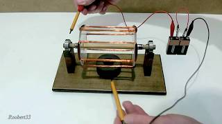 getlinkyoutube.com-How to make an electric motor homemade