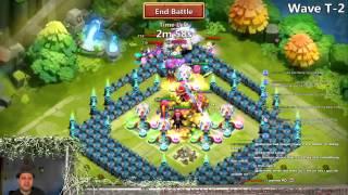 getlinkyoutube.com-Castle Clash - New Heroes On HBM T Victory (Dread Drake, Gouhlem & Harpy) Part 2