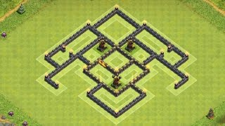 """getlinkyoutube.com-Clash of Clans - """"NEW"""" TH7 Hybrid Base with 3 Air Defense Speed Build"""